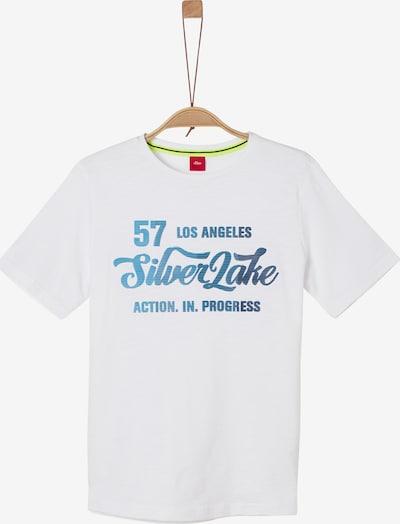 s.Oliver T-Shirt en bleu / blanc, Vue avec produit