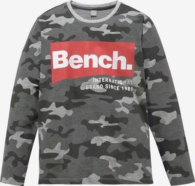 BENCH Langarmshirt in grau, Produktansicht