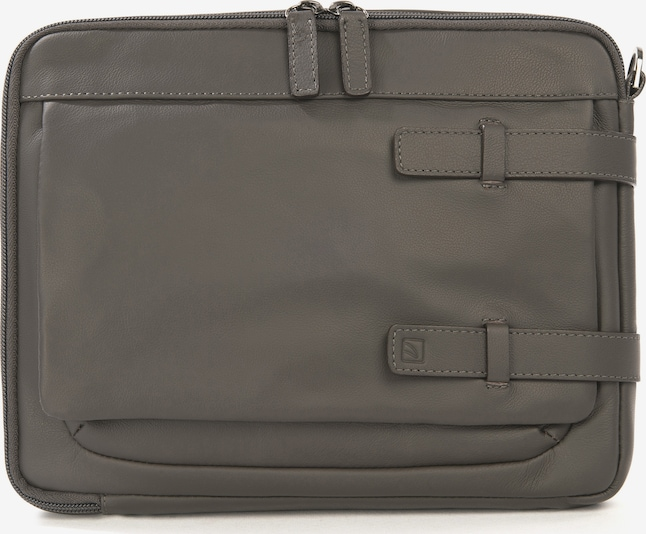 TUCANO Tablethoes 'Leather shoulder bag 10 inch' in de kleur Grijs / Antraciet / Donkergrijs, Productweergave