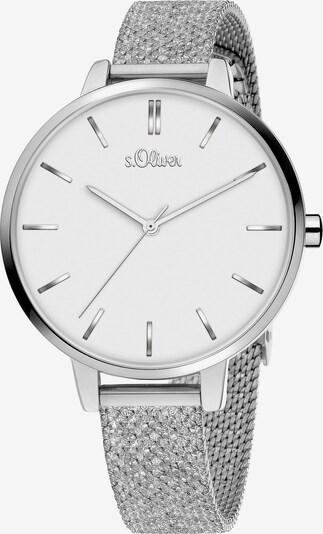s.Oliver Uhr in silber / weiß, Produktansicht