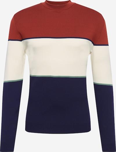 River Island Pullover in creme / navy / rostrot, Produktansicht