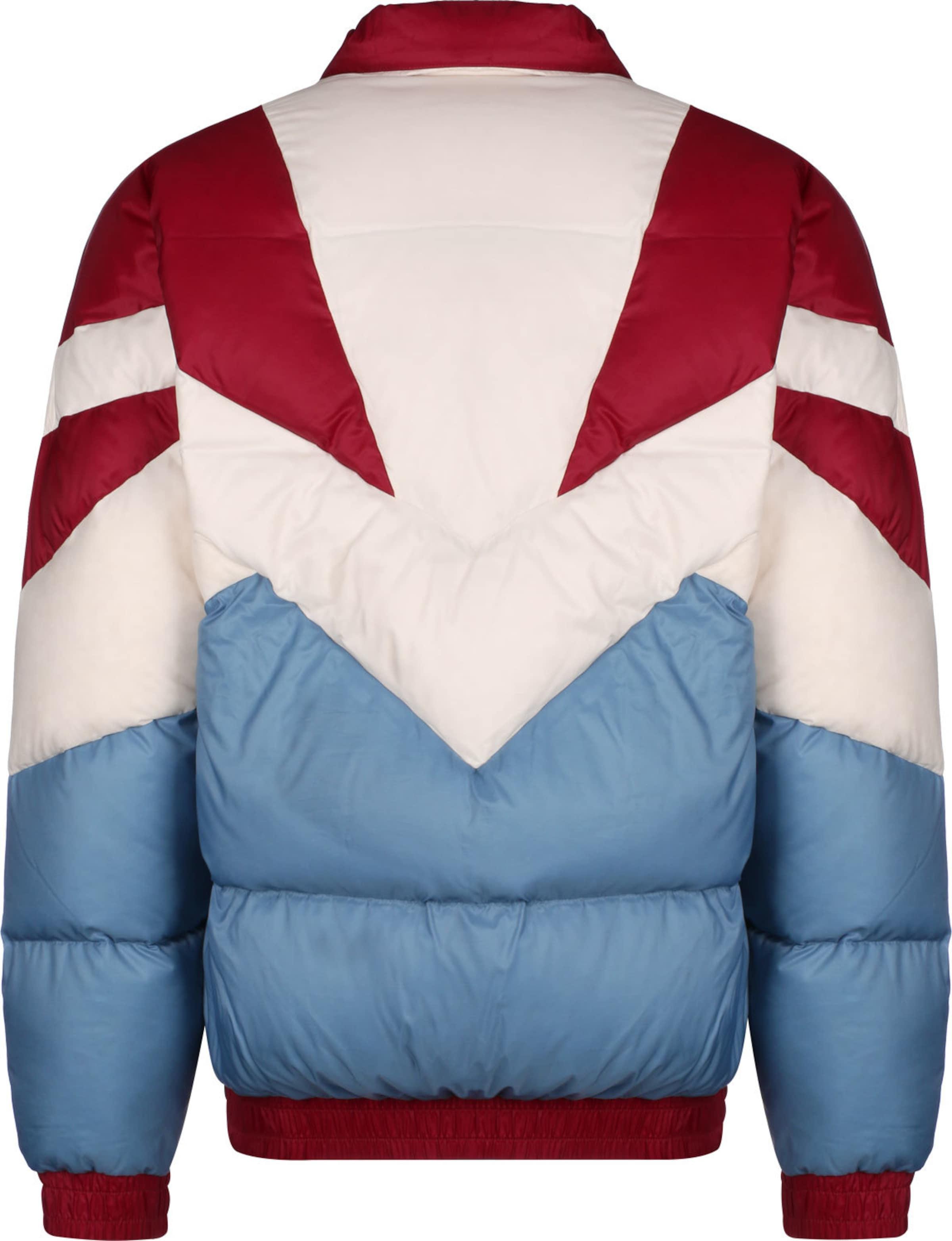 ASICS SportStyle Jacke 'Sportswear' in blau / rot / weiß Seitliche Eingrifftaschen KJ13R009011