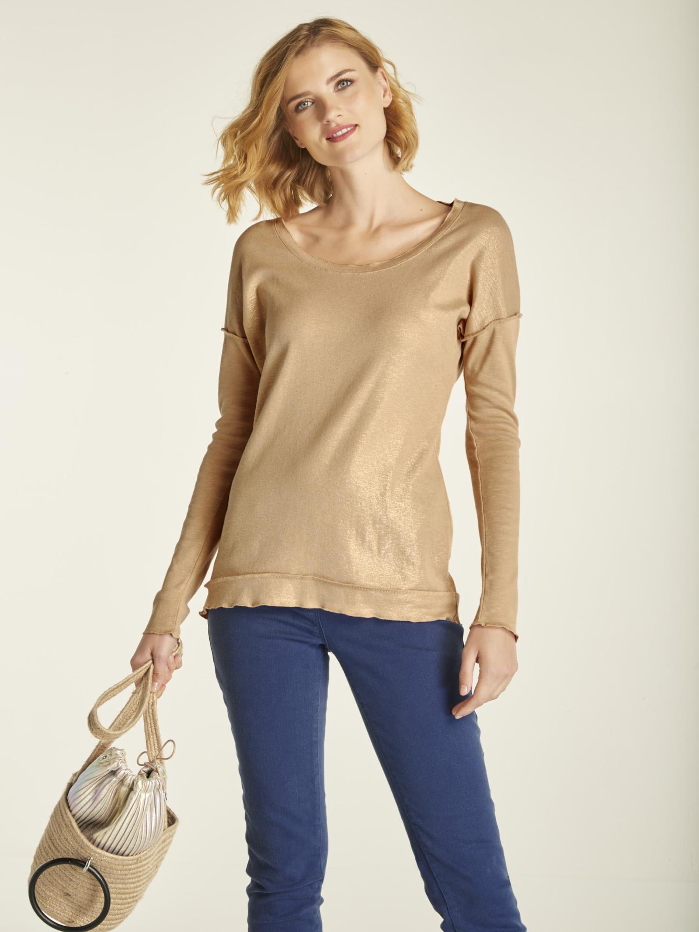 Mit Glanzeffekt In Shirt Heine Gold wmO8vNn0