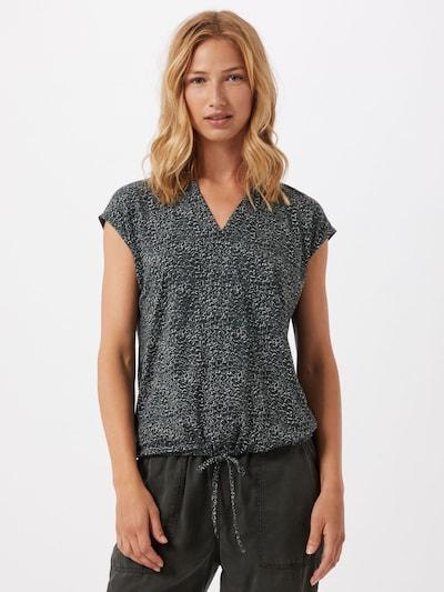 OPUS Bluse 'Sandeo' in dunkelgrün / schwarz / weiß, Modelansicht