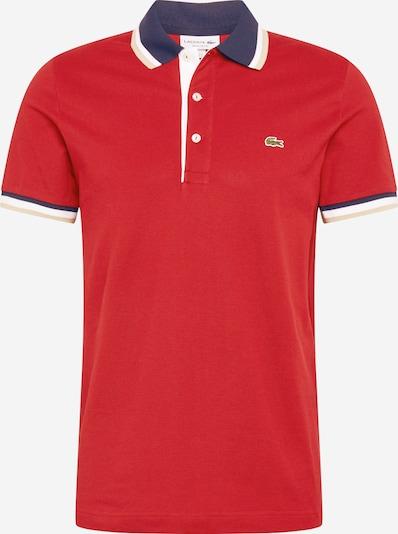 LACOSTE Majica | kremna / mornarska / rdeča / bela barva, Prikaz izdelka