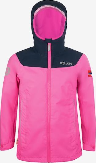 TROLLKIDS Regenjacke 'Bergen' in pink / schwarz, Produktansicht