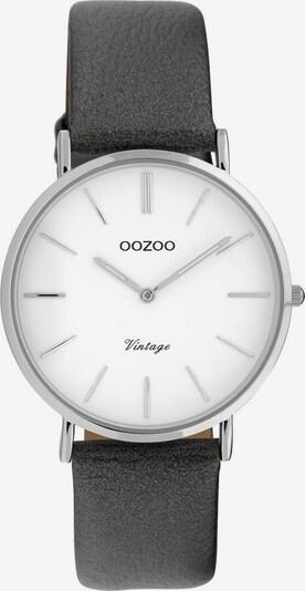 OOZOO Uhr 'C20081' in grau / silber / weiß, Produktansicht
