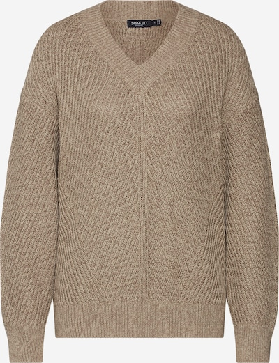 SOAKED IN LUXURY Pullover 'Ross' in grau / grün, Produktansicht