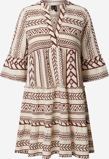 VERO MODA Kleid in beige / rostrot: Frontalansicht