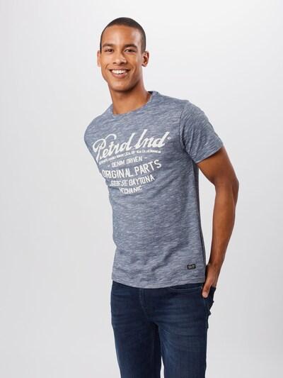 Petrol Industries T-Shirt in dunkelblau: Frontalansicht