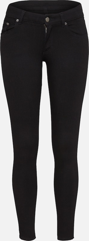 CHEAP MONDAY Skinny Jeans 'Low Skin' in black denim, Produktansicht