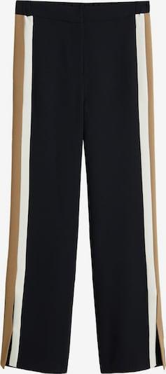 MANGO Kalhoty - světle béžová / černá / bílá, Produkt