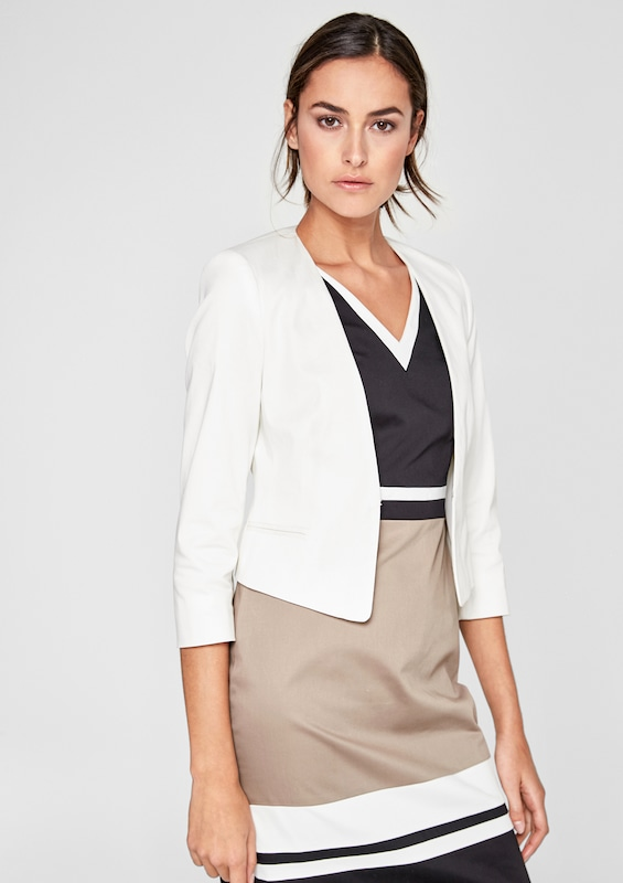 S.oliver Black Label Short Blazer In Satin-optics