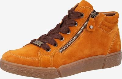 ARA Baskets hautes en marron / jaune d'or, Vue avec produit