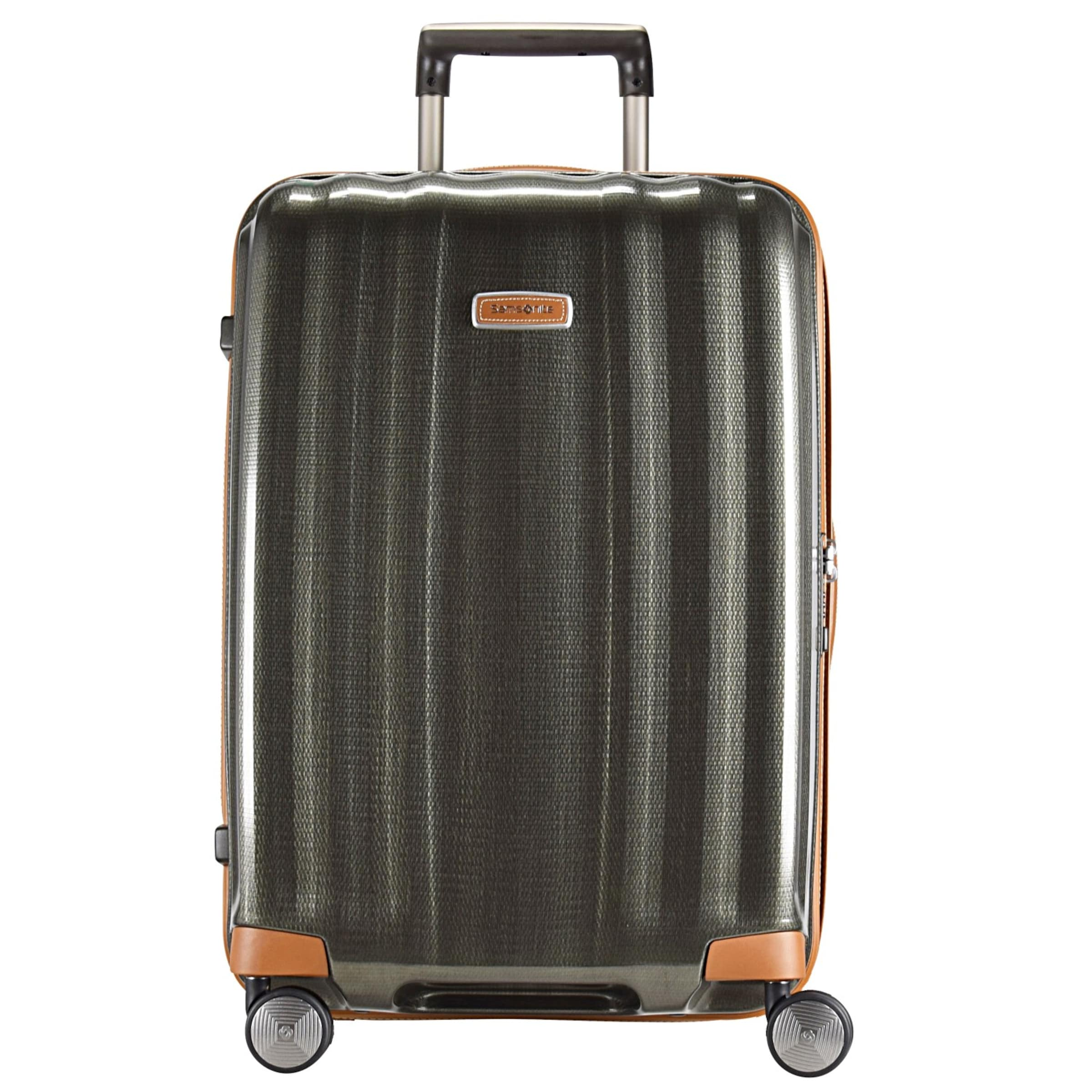 Dlx Samsonite cube Trolley In 'lite Oliv Spinner' uXPZOkiT
