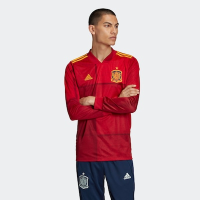 ADIDAS PERFORMANCE Trikot in gold / feuerrot: Frontalansicht