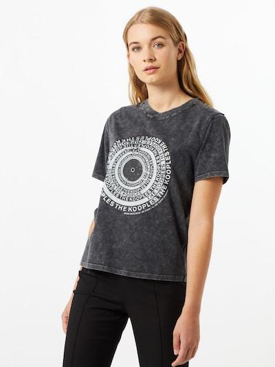 The Kooples Koszulka w kolorze czarny / białym: Widok z przodu