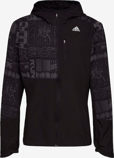 ADIDAS PERFORMANCE Jacke 'Own the Run' in schwarz / silber / weiß, Produktansicht