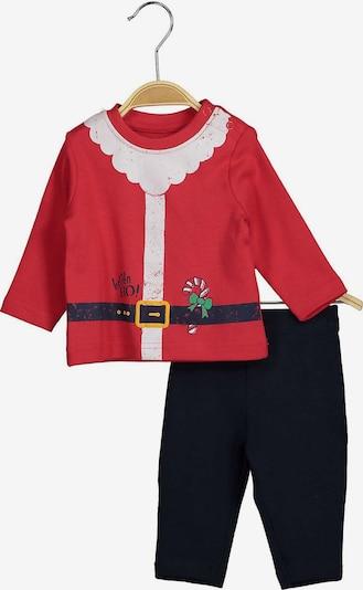 BLUE SEVEN Langarmshirt + Leggings Set in rot / schwarz, Produktansicht