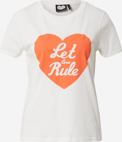 CATWALK JUNKIE Shirt 'Let love rule' in weiß, Produktansicht