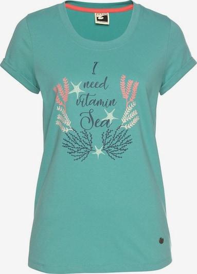 OCEAN SPORTSWEAR T-Shirt in türkis / schwarz, Produktansicht