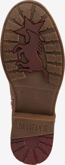 Suvarstomieji batai iš MUSTANG , spalva - kaštoninė spalva: Vaizdas iš apačios