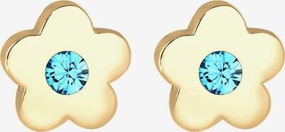 ELLI Ohrringe 'Blume' in aqua / gold, Produktansicht