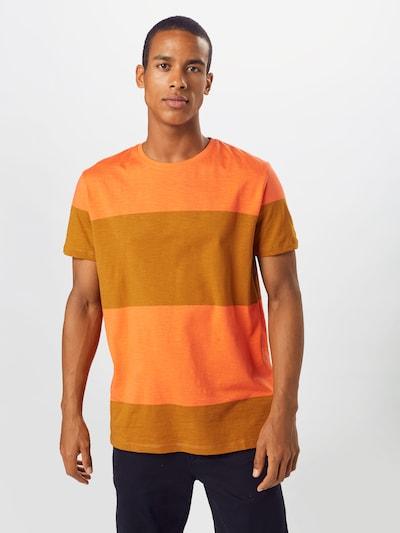 ESPRIT Koszulka w kolorze musztardowy / pomarańczowo-czerwonym: Widok z przodu