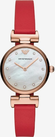 Emporio Armani Analog Watch in Red