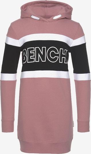 BENCH Sweatkleid in mauve / schwarz / weiß, Produktansicht