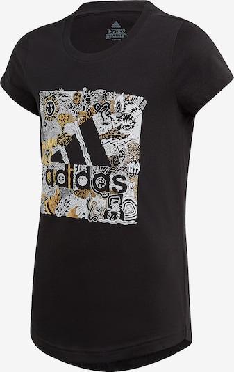 ADIDAS PERFORMANCE T-Shirt in gelb / schwarz / weiß, Produktansicht