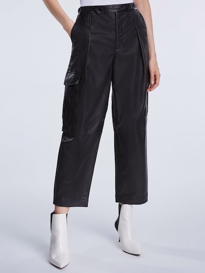 SET Nohavice - čierna: Pohľad spredu
