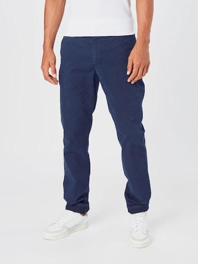 By Garment Makers Pantalon chino en bleu marine: Vue de face
