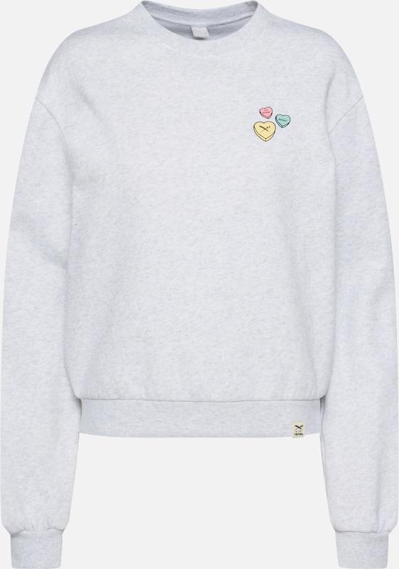 Sweat shirt Heart' Gris Chiné En 'candy Iriedaily 3Lj45RAq