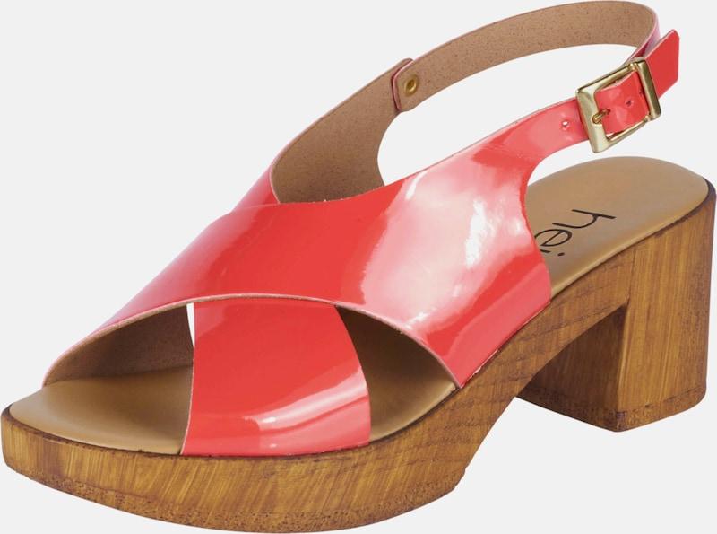 heine Sandalette in Lack-Optik Günstige und langlebige Schuhe