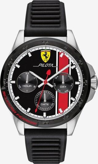 Scuderia Ferrari Multifunktionsuhr 'Pilota 830661' in schwarz / silber / weiß, Produktansicht