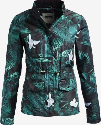 khujo Jacke 'EZREAL' in smaragd / schwarz, Produktansicht