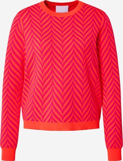 DELICATELOVE Trui 'Sunny ZigZag' in de kleur Sinaasappel / Pink, Productweergave