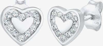 ELLI Ohrringe Herz in silber, Produktansicht