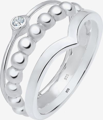 ELLI Δαχτυλίδι σε ασημί / διαφανές, Άποψη προϊόντος