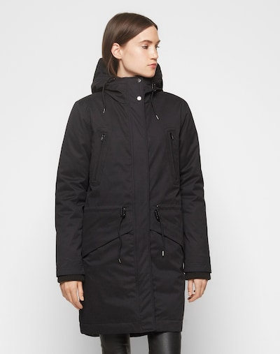 Samsoe Samsoe Parka zimowa 'Lucca' w kolorze czarnym, Podgląd na modelu(-ce)