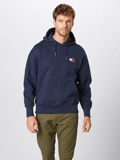 Tommy Jeans Sweatshirt in de kleur Donkerblauw: Vooraanzicht