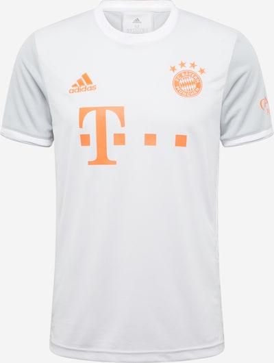 ADIDAS PERFORMANCE Trikot 'FC Bayern' in hellgrau / orangerot / weiß, Produktansicht