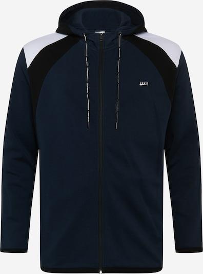 Jack & Jones Plus Sweatjacke in nachtblau / schwarz / weiß, Produktansicht