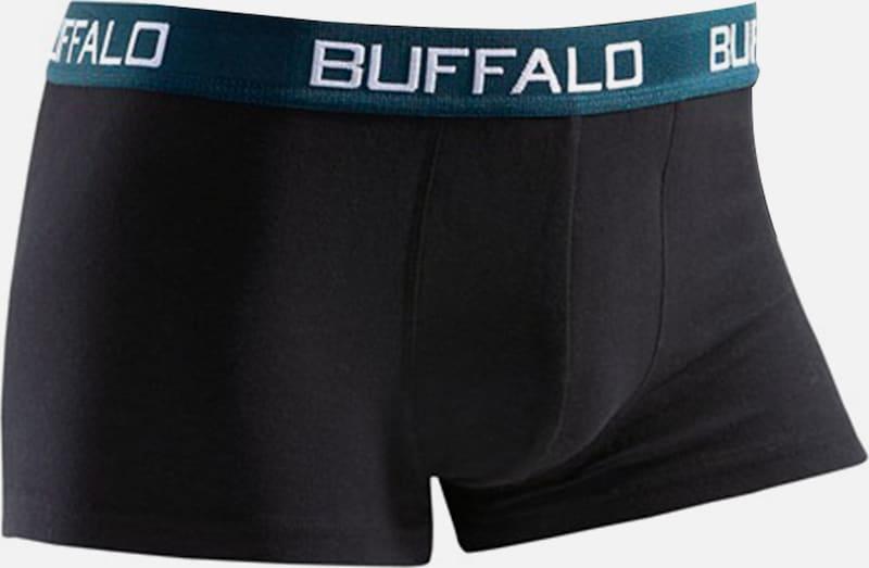 BUFFALO Buffalo, Microfaser-Hipster (4 Stück), unifarbene Retro Pants mit Kontrastbund, tolle Qualität