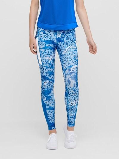 ONLY PLAY Leggings in blau / opal / weiß, Modelansicht
