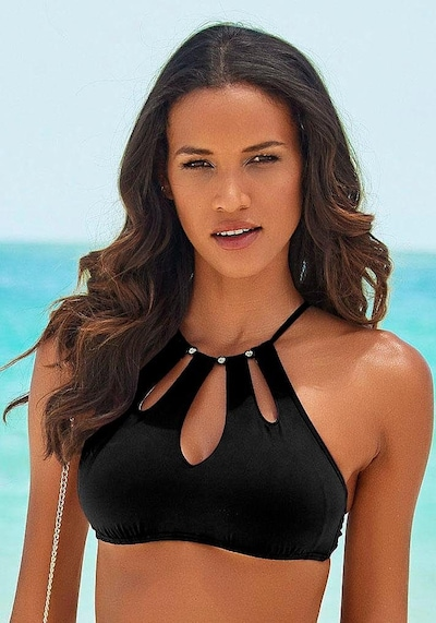 LASCANA Bikinitop 'Italy' in schwarz, Produktansicht