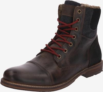 BULLBOXER Šněrovací boty - tmavě hnědá / rubínově červená, Produkt