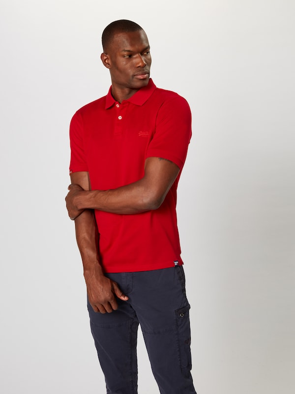 Superdry Poloshirt 'classic lite' in rot: Frontalansicht