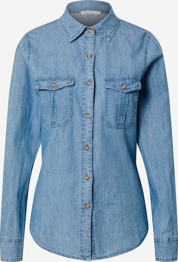 Hailys Bluse 'Alia' in blue denim: Frontalansicht